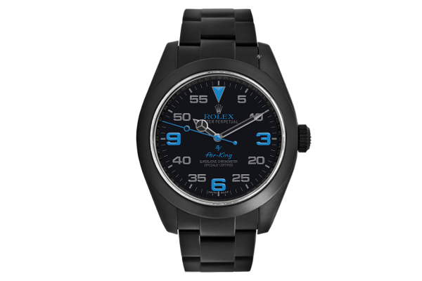 Rolex Light blue - Limited Edition /10 Black Venom Dlc - Pvd
