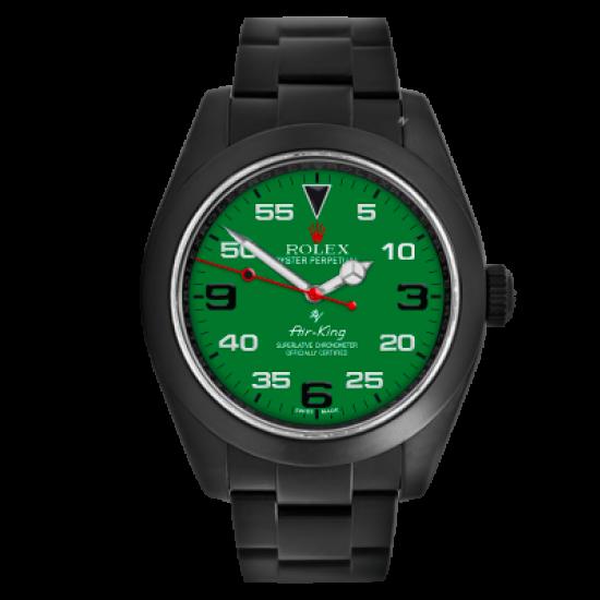 Rolex Green Dial - Limited Edition /10 Black Venom Dlc - Pvd