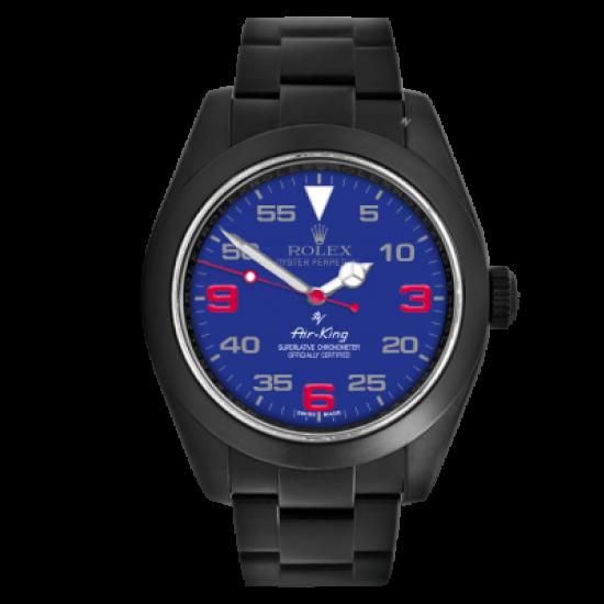 Rolex Air-King Blu dial - Limited Edition /10 Black Venom Dlc - Pvd