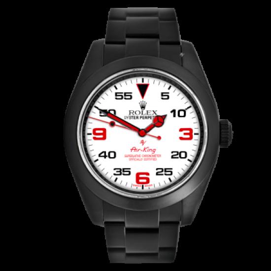Rolex Air-King White dial - Limited Edition /10 Black Venom Dlc - Pvd