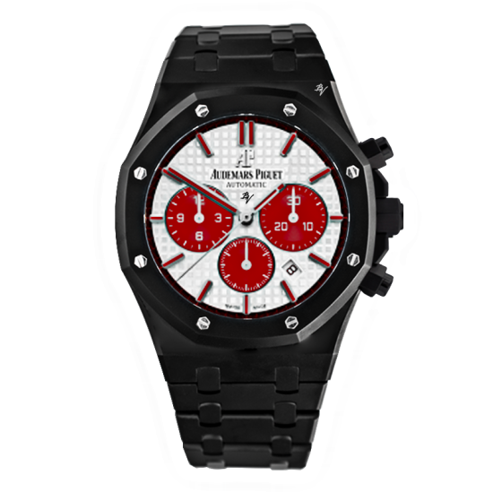 Audemars Piguet White & Red Dial -  Limited Edition /5 Black Venom Dlc - Pvd