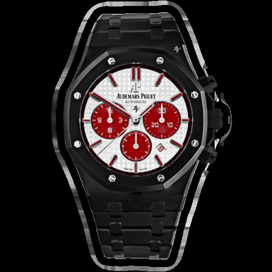 Audemars Piguet White & Red Dial -  Limited Edition /5 Black Venom Dlc - Pvd