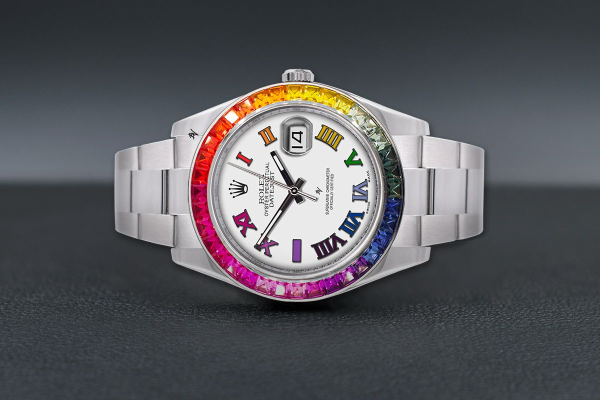 Rolex Colorful Rainbow - Limited edition /5 - Black Venom custom