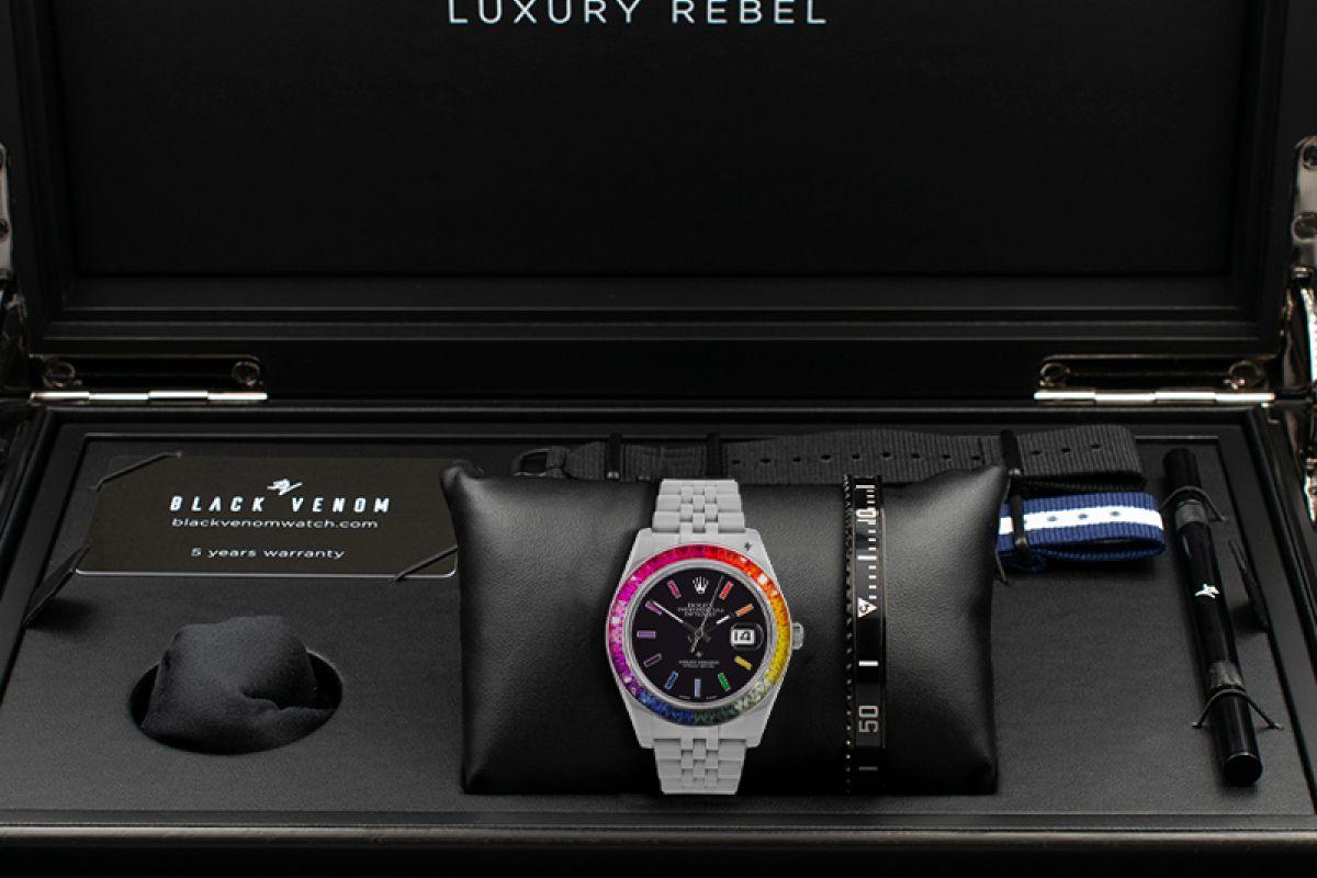Rolex Dark Rainbow - Limited edition /5 - Black Venom custom