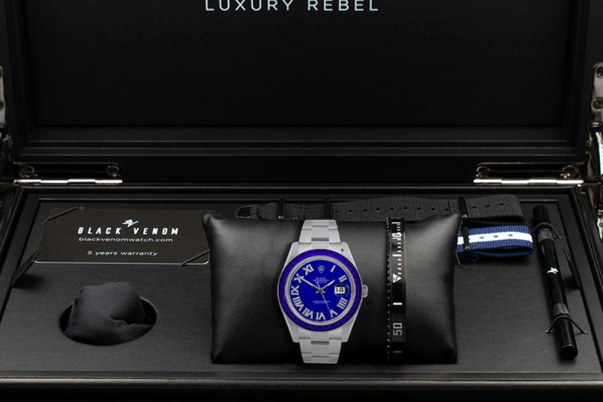 Rolex Deep blue - Limited edition /5 - Black Venom custom