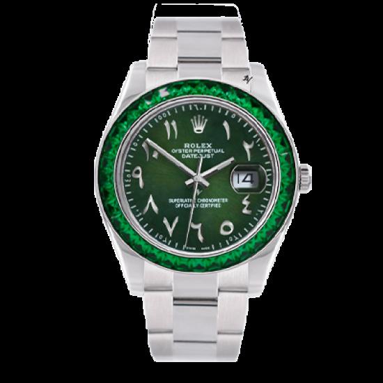 Rolex Datejust II green thumb -  Limited edition /5 - Black Venom custom