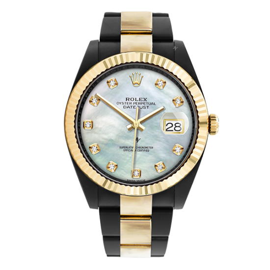 Rolex Steel Gold - Mother of pearl Diamonds - Limited Edition /35 Black Venom Dlc - Pvd