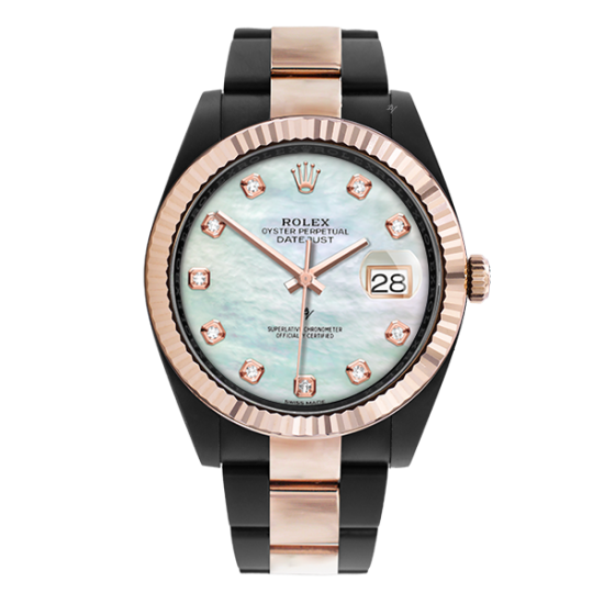 Rolex Steel Rose Gold - Mother of pearl - Limited Edition /35 Black Venom Dlc - Pvd