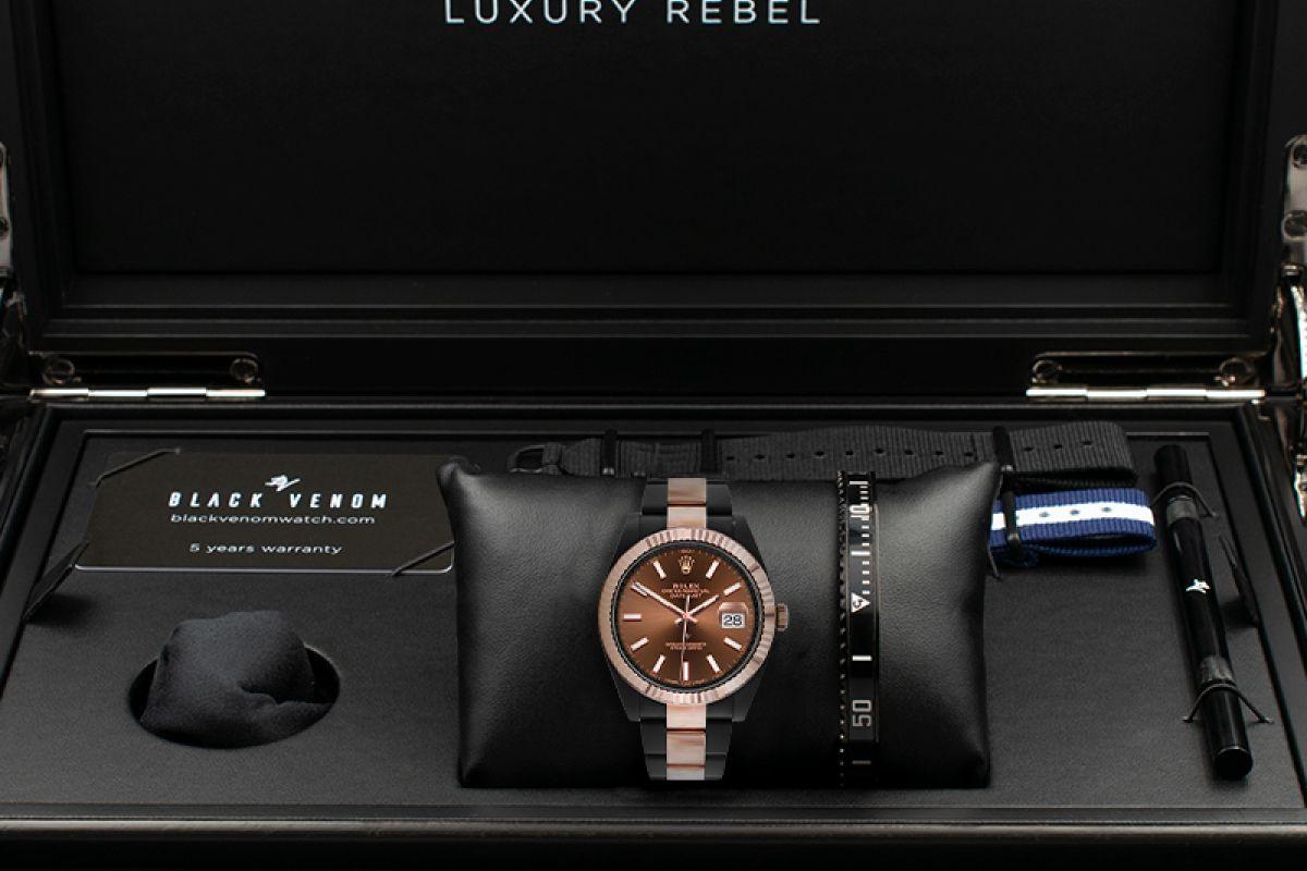 Rolex Steel Rose Gold - Chocolate - Limited Edition /35 Black Venom Dlc - Pvd
