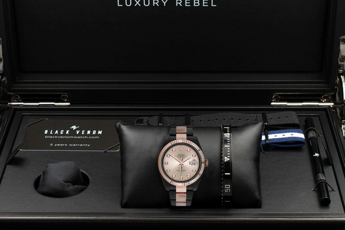 Rolex Steel Rose Gold - Diamonds - Limited Edition /35 Black Venom Dlc - Pvd
