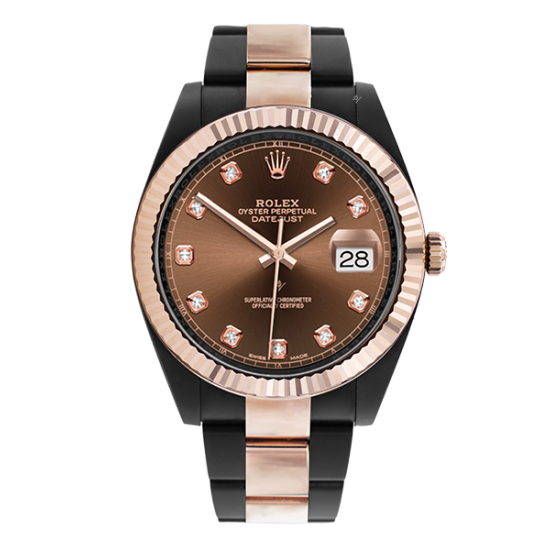 Rolex Steel Rose Gold - Chocolate Diamonds - Limited Edition /35 Black Venom Dlc - Pvd