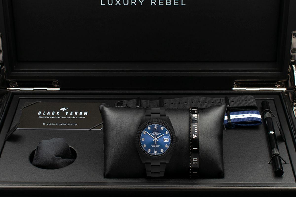 Rolex Diamonds - Limited Edition /35 Black Venom Dlc - Pvd