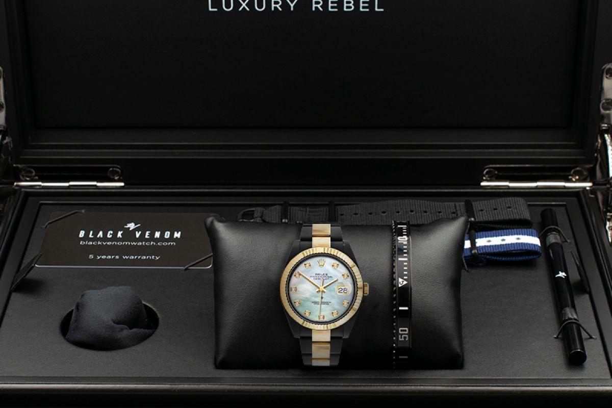 Rolex Steel Gold - Mother of pearl Diamonds - Limited Edition /35 Black Venom Dlc - Pvd