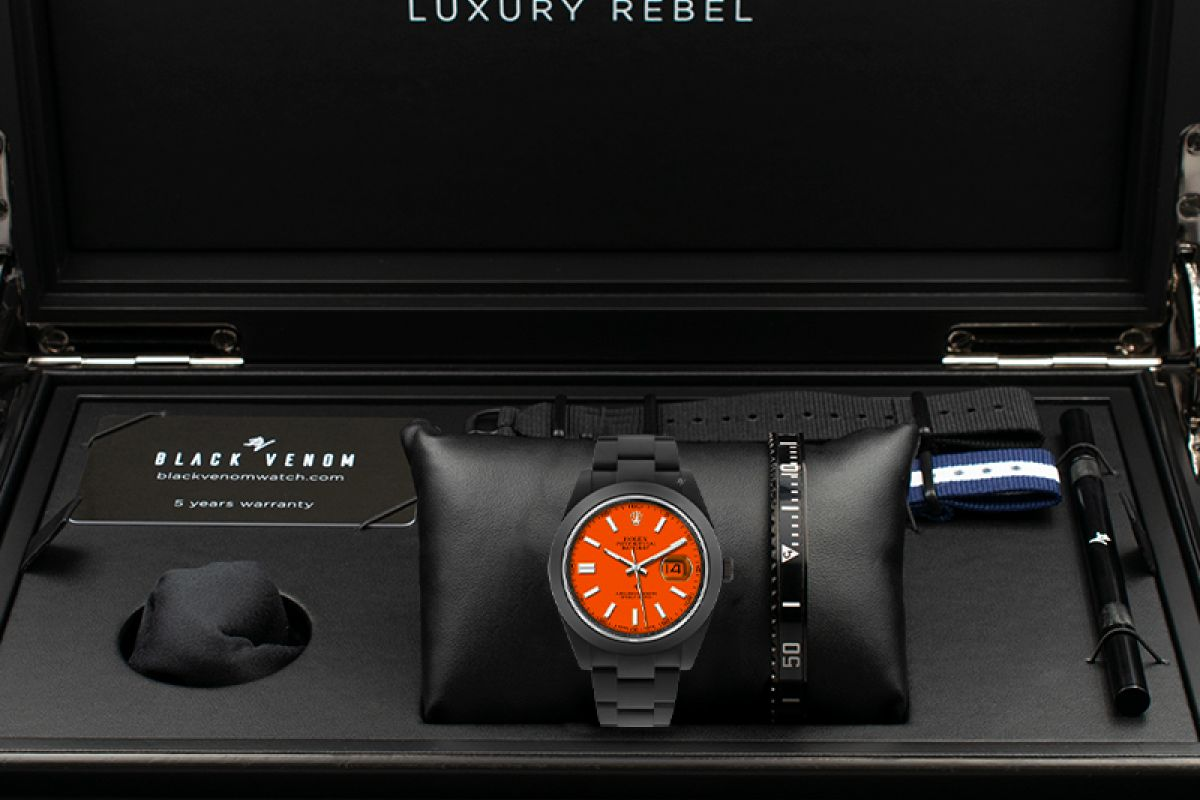 Rolex Orange juice  - Limited Edition /10 Black Venom Dlc - Pvd