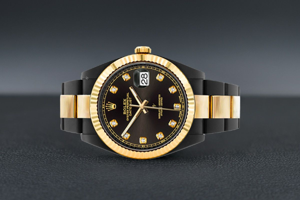 Rolex Steel Gold - Diamonds - Limited Edition /35 Black Venom Dlc - Pvd