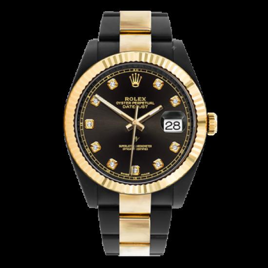 Rolex Steel Gold - Diamonds - Limited Edition /35 Black Venom Dlc - Pvd