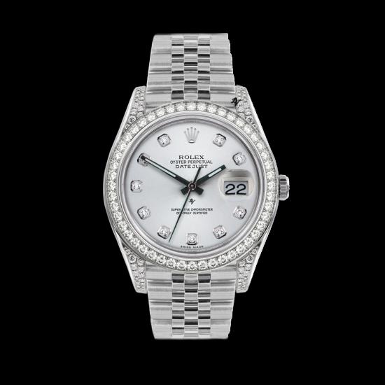 Rolex Datejust Rolex Datejust 36mm With Custom Silver diamonds dial