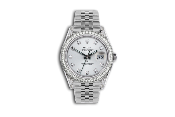 Rolex Datejust 36mm With Custom Silver diamonds dial