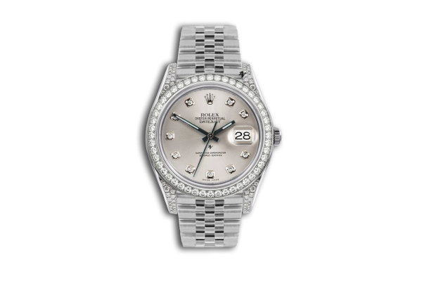 Rolex Datejust 36mm With Custom champagne diamonds dial