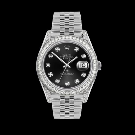Rolex Datejust Rolex Datejust 36mm With Custom black diamonds dial