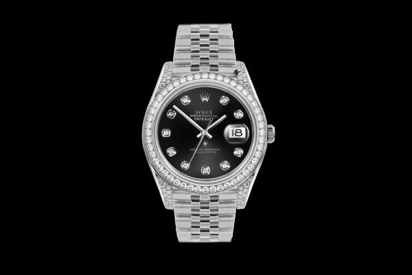 Rolex Datejust 36mm With Custom black diamonds dial