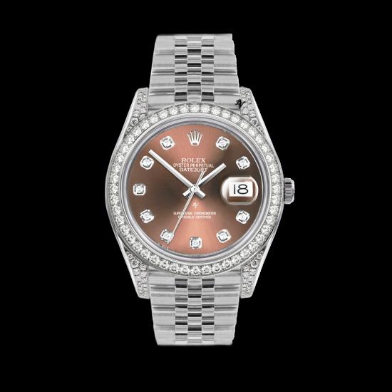 Rolex Datejust Rolex Datejust 36mm With Custom Salmon diamonds dial