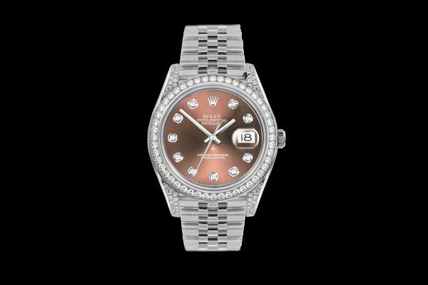 Rolex Datejust 36mm With Custom Salmon diamonds dial