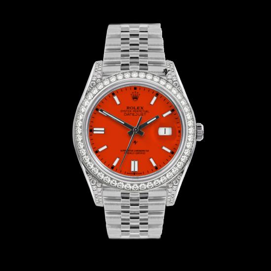 Rolex Datejust Rolex Datejust 36mm With Custom arancione diamonds dial
