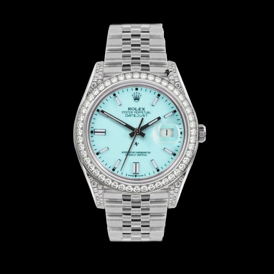 Rolex Datejust Rolex Datejust 36mm With Custom azzurro diamonds dial