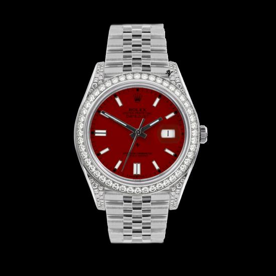 Rolex Datejust Rolex Datejust 36mm With Custom bordeaux diamonds dial