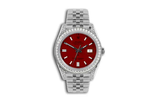Rolex Datejust 36mm With Custom bordeaux diamonds dial
