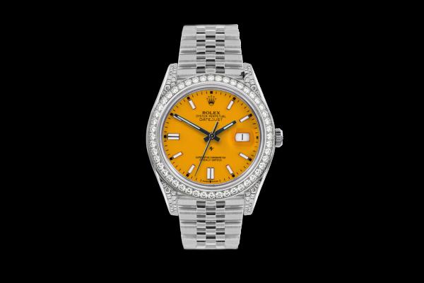 Rolex Datejust 36mm With Custom giallo diamonds dial