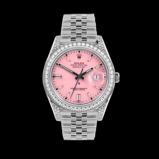 Rolex Datejust Rolex Datejust 36mm With Custom rosa diamonds dial