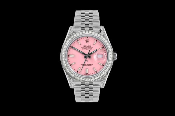 Rolex Datejust 36mm With Custom rosa diamonds dial