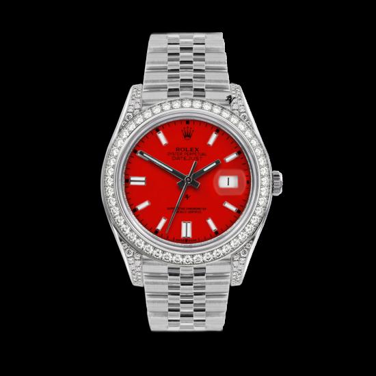 Rolex Datejust Rolex Datejust 36mm With Custom rosso diamonds dial