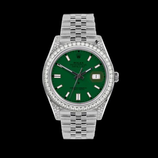 Rolex Datejust Rolex Datejust 36mm With Custom verde diamonds dial