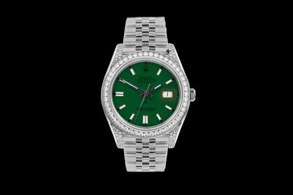 Rolex Datejust 36mm With Custom verde diamonds dial