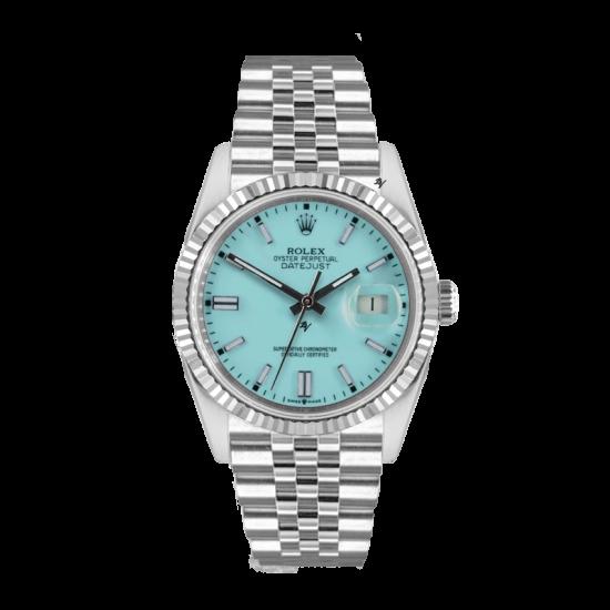 Rolex Datejust Rolex Datejust 36mm With Custom light blu  dial