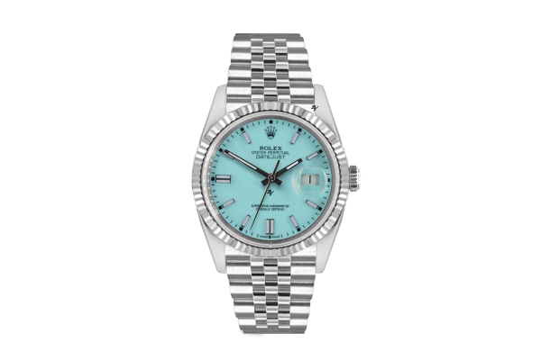 Rolex Datejust 36mm With Custom light blu  dial