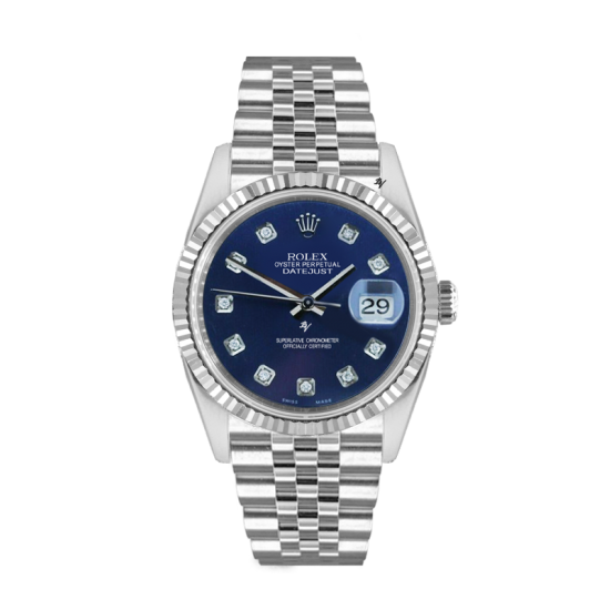 Rolex Datejust Rolex Datejust 36mm With Custom blu diamonds dial
