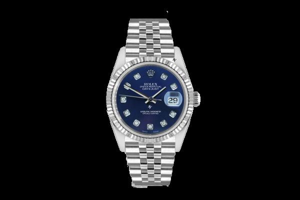 Rolex Datejust 36mm With Custom blu diamonds dial
