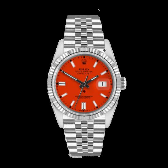 Rolex Datejust Rolex Datejust 36mm With Custom Orange dial