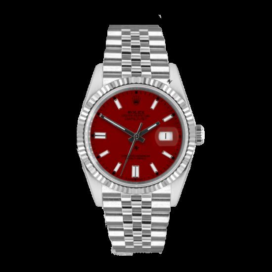 Rolex Datejust Rolex Datejust 36mm With Custom Bordeaux  dial