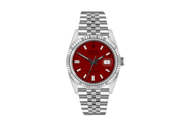 Rolex Datejust 36mm With Custom Bordeaux  dial