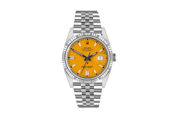 Rolex Datejust 36mm With Custom Yellow dial