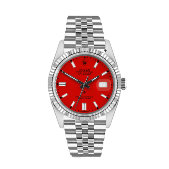 Rolex Datejust Rolex Datejust 36mm With Custom red  dial