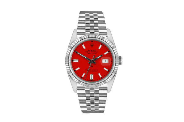 Rolex Datejust 36mm With Custom red  dial