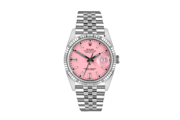 Rolex Datejust 36mm With Custom Pink dial