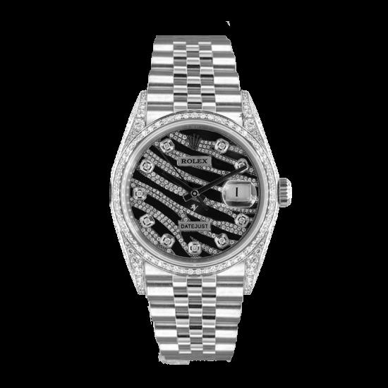 Rolex Datejust Rolex Datejust 36mm  Custom With custom Zebra diamonds Dial