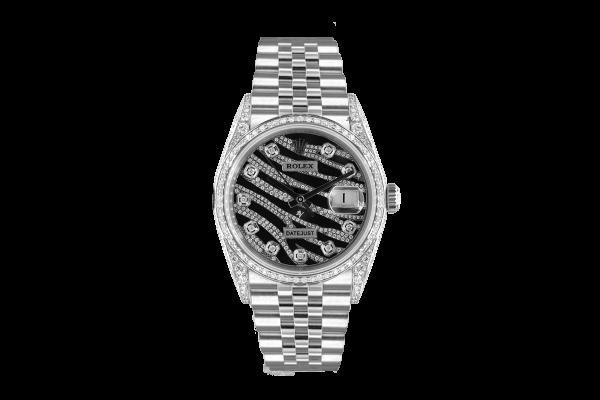 Rolex Datejust 36mm  Custom With custom Zebra diamonds Dial